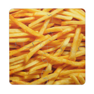 French Fries Yum Puzzle Coaster
