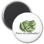 French Frog - I Love Frogs Magnet