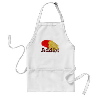 French Fry Addict Adult Apron
