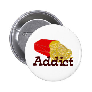 French Fry Addict Pinback Button