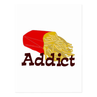 French Fry Addict Postcard