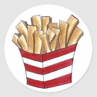 French Fry Fast Food Fries Foodie Potato Stickers