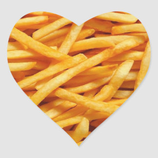 French Fry Heart Sticker