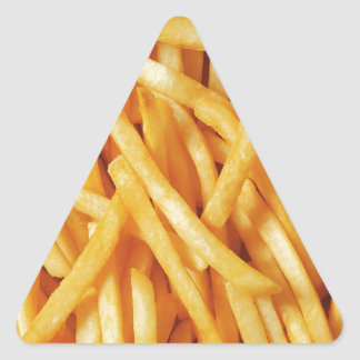 French Fry Heaven Triangle Sticker