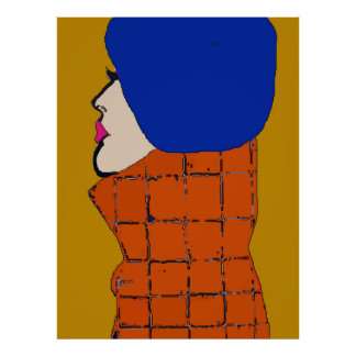 French Gal In Blue Beret Poster