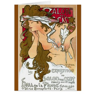 French Gallery Ad 1901 Large Greeting Card
