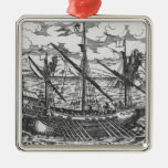French galley christmas tree ornament