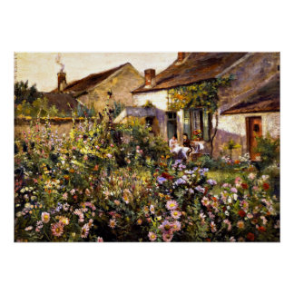 French Garden - an Otto Stark painting Poster