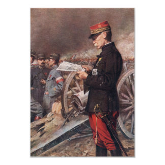French General Joseph Gallieni by Ferdinand Roybet 3.5x5 Paper Invitation Card