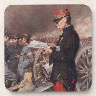 French General Joseph Gallieni by Ferdinand Roybet Coasters