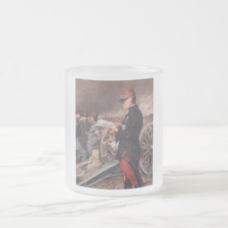 French General Joseph Gallieni by Ferdinand Roybet 10 Oz Frosted Glass Coffee Mug