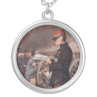 French General Joseph Gallieni by Ferdinand Roybet Personalized Necklace