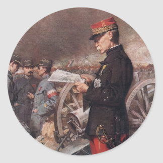 French General Joseph Gallieni by Ferdinand Roybet Round Stickers