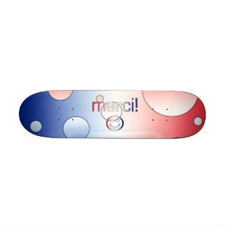 French Gifts : Thank You / Merci + Smiley Face Skate Deck