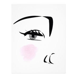 French girl letterhead