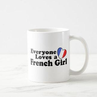 French Girl Coffee Mugs