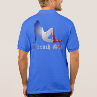 French Girl Silhouette Flag Polo Shirt