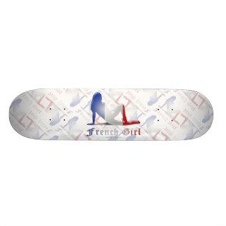 French Girl Silhouette Flag Skate Decks
