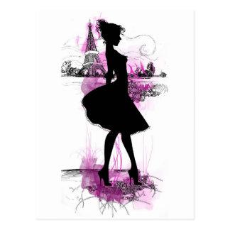 French girl tarjeta postal