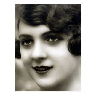 """French Girl"" Vintage Photograph Postcard"