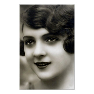 """""""French Girl"""" Vintage Photograph Poster"""