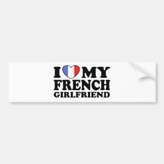 French Girlfriend Car Bumper Sticker