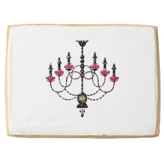 French Girlie Chandelier Shortbread Cookie