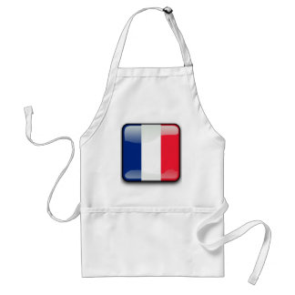 French glossy flag adult apron