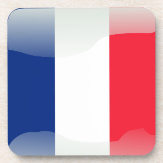French glossy flag coaster