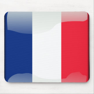 French glossy flag mouse pad