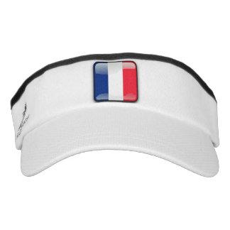 French glossy flag visor