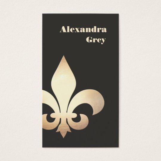 French gold leaf fleur de lis business card zazzle french gold leaf fleur de lis business card colourmoves