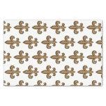French Golden Fleur de Lis Crest Tissue Paper