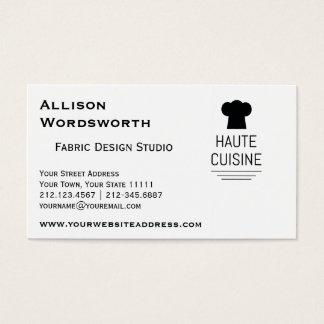 French Gourmet Haute Cuisine Business Card