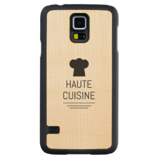 French Gourmet Haute Cuisine Foodie Carved Maple Galaxy S5 Slim Case