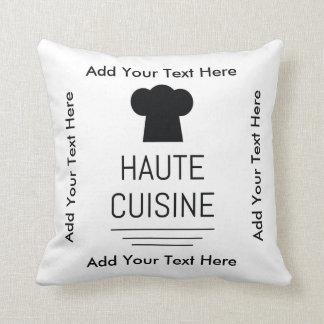 French Gourmet Haute Cuisine Throw Pillow