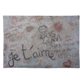 french graffiti cloth placemat