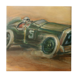 French Grand Prix Racecar by Ethan Harper Ceramic Tile