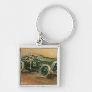 French Grand Prix Racecar by Ethan Harper Key Chain