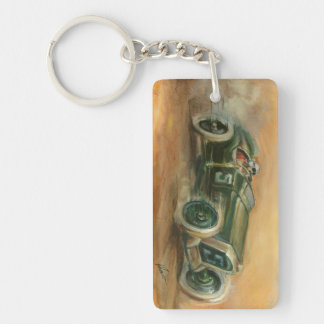 French Grand Prix Racecar by Ethan Harper Rectangular Acrylic Key Chains