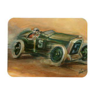 French Grand Prix Racecar by Ethan Harper Magnet