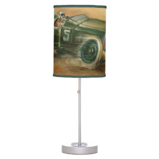 French Grand Prix Racecar by Ethan Harper Table Lamp