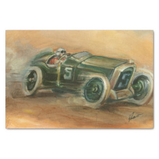 French Grand Prix Racecar by Ethan Harper Tissue Paper