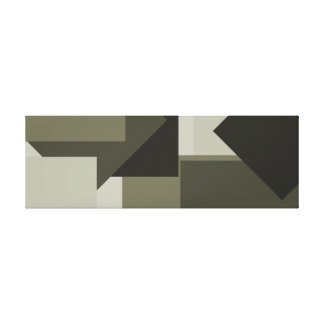 French Gray Olive Army Green Bold Modern Art 2 Canvas Print