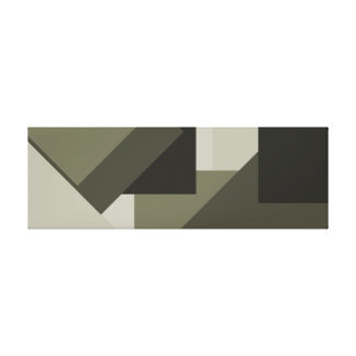 French Gray Olive Army Green Bold Modern Art 3 Canvas Print