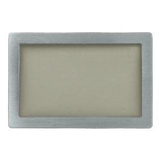 French Grey 5a Color Only Custom Design Rectangular Belt Buckles