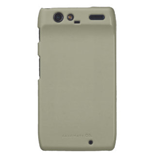 French Grey 5a Color Only Custom Design Motorola Droid RAZR Cover