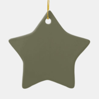 French Grey 7a Color Only Custom Design Ceramic Ornament