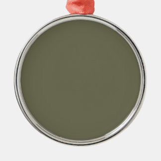 French Grey 7a Color Only Custom Design Metal Ornament