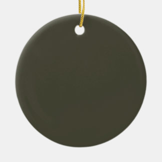 French Grey 9a Color Only Custom Design Ceramic Ornament